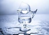 Playing Water Glasses — Foto Stock