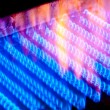 The fire burns from a gas burner inside the boiler. — Stock Photo #38921951
