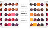 Palette samples of dyed hair. — Stock Photo