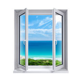 Open window to the sea — Stock Photo