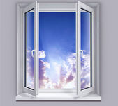 Open window on the sky — Stock Photo