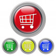 Shopping cart icon — Stock Photo #20395147