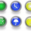 Weather web icons — Stock Photo