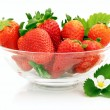 Royalty-Free Stock Photo: Strawberries in glass dish
