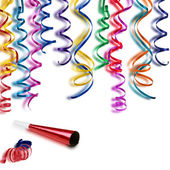 Colorful streamers — Stock Photo