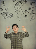 The weight of the study — Stock Photo