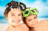 Smiling children in vacantion — Stock Photo
