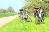 Cyklar på landsbygden — Stockfoto