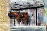 Door latch rusty — Stock Photo