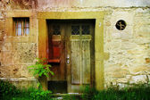 Aged door — Стоковое фото