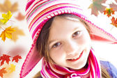 Beautiful little girl smiling — Stock Photo