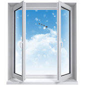Open window on the sky — Foto de Stock