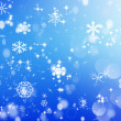 Winter blue background with snowflakes — Stok fotoğraf