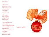 Poetry Merry Christmas — Stock Photo