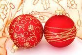 Glass balls for christmas tree — Stock Photo