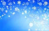 雪の青色の背景色 — ストック写真