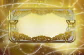 Background with golden frame — Stock Photo