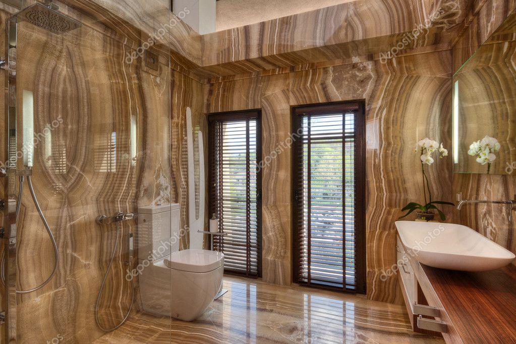 Bagno moderno in marmo — foto stock © youngoggo #31849591
