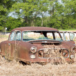 Old Wrecked Car - Stock Photo