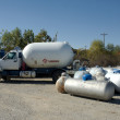 Propane Trucks — Stock Photo