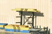 Steel Pallets — Stock Photo