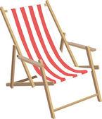 Sun chair — Stock Vector
