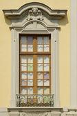 Mullioned windows in the castle — Stock Photo