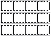 Three film strips — Stock Vector