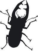 Stag beetle — Vector de stock