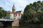 城市景观的中世纪坏 cannstatt — 图库照片