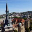 View from the west tower of the Collegiate Church - Altes Schloss Stuttgart — Stock Photo