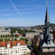Stuttgart view of the Schiller- and Schlossplatz — Stock Photo
