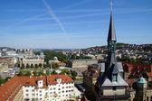 Stuttgart view of the Schiller- and Schlossplatz — Stock Photo