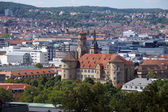 Stuttgart - City View - Old Castle --Stuttgart Panorama Altes Schloss — Stock Photo