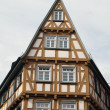 A medieval half-timbered house — Stock Photo