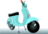 A historic scooter — Stock Vector
