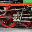 Detail of a historic narrow-gauge railway — Stock Photo