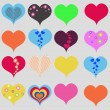 Set of hearts — Stock Vector