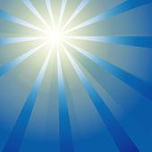 Sun on a blue sky. — Stock Vector