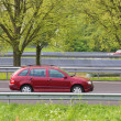 Skoda Fabia Stationcar driving the highway - Stock Photo