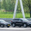 Skoda Superb v.s. JEEP Grand Cherokee - Stock Photo