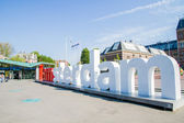 Iamsterdam on Museumsquare Amsterdam — Stock Photo