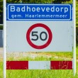 City crossing sign Badhoevedorp — Stock Photo