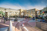 Max Euweplein a square in Amsterdam with pubs — Stock Photo