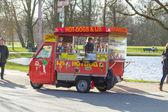 Hotdog stå i amsterdam vondelpark — Stockfoto