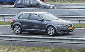 Audi A3 Driving down the road — Stock Photo