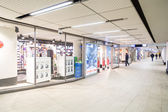 Shops in Amsterdam Central station — Stock Photo