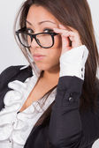 Sexy office girl with glasses — Stock Photo