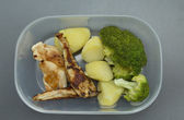 Healthy meal in tupperware container — Stock fotografie