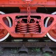 Stock Photo: Wheels of train